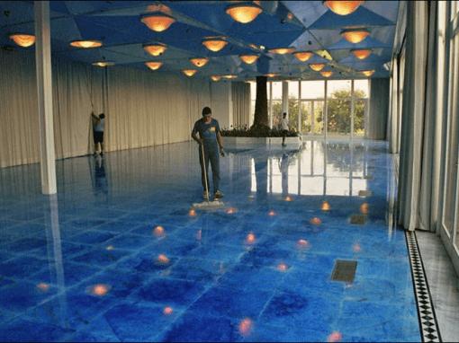 Rebajado y Abrillantado de la Sala Azul para la boda de la Infanta Cristina Hotel Rey Juan Carlos I