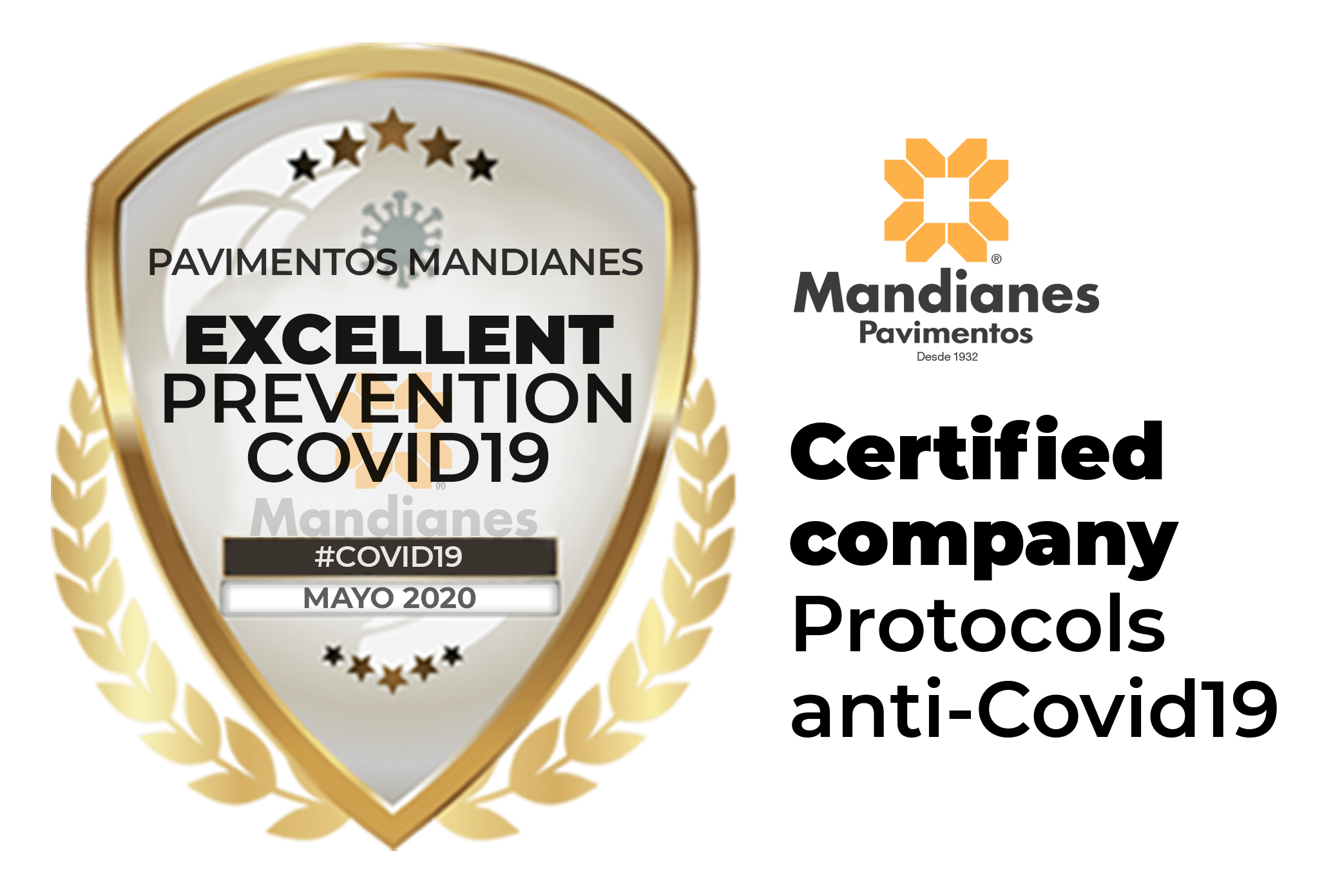 At Pavimentos Mandianes Parquets i Purtes Barcelona, your safety is the most important thing, we comply with more than 20 hygiene measures.